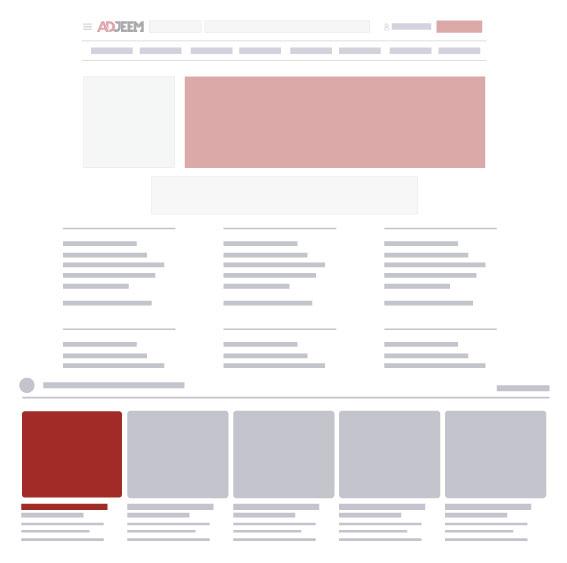 Adjeem homepage gallery ad